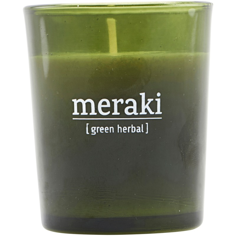 Meraki Scented Candle 5,5 x 6,7 cm - Green herbal thumbnail
