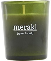 Meraki Scented Candle 5,5 x 6,7 cm - Green herbal
