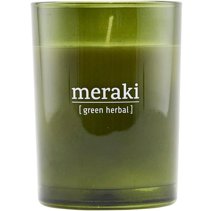 Meraki Scented Candle 8 x 10,5 cm - Green herbal thumbnail