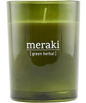 Meraki Scented Candle 8 x 10,5 cm - Green herbal