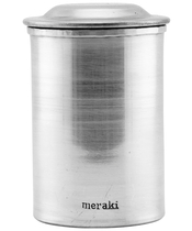 Meraki Jar w. Lid Silver Finish Small