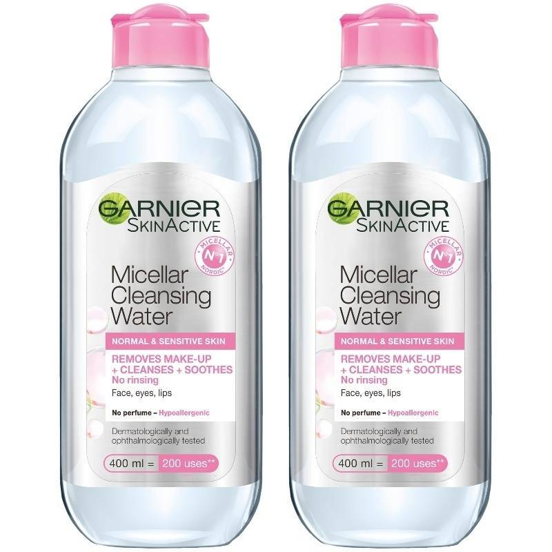 2 x Garnier Skinactive Cleansing Micellar Water Normal & Sensitive Skin 400 ml thumbnail